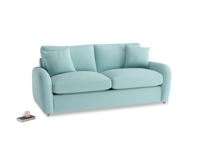Medium Easy Squeeze Sofa Bed in Adriatic washed cotton linen