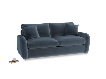Medium Easy Squeeze Sofa Bed in Liquorice Blue clever velvet