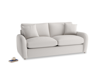 Medium Easy Squeeze Sofa Bed in Lunar Grey washed cotton linen