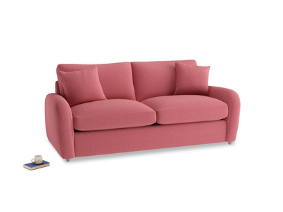 Medium Easy Squeeze Sofa Bed in Raspberry brushed cotton
