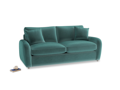 Medium Easy Squeeze Sofa Bed in Real Teal clever velvet