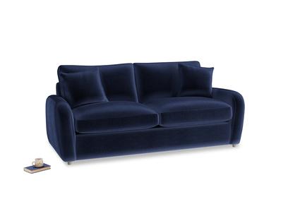 Medium Easy Squeeze Sofa Bed in Midnight plush velvet
