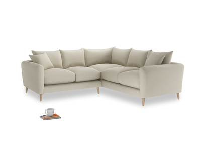 Even Sided Squishmeister Corner Sofa in Pale rope clever linen