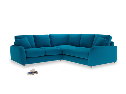 Even Sided Easy Squeeze Corner Sofa in Bermuda Brushed Cotton