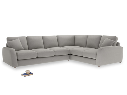 Xl Right Hand Easy Squeeze Corner Sofa in Wolf brushed cotton