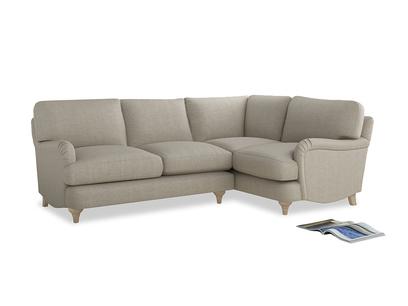 Large Right Hand Jonesy Corner Sofa in Thatch house fabric