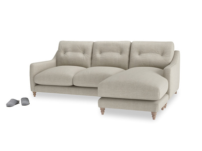 Large Right Hand Slim Jim Chaise Sofa In Thatch House Fabric