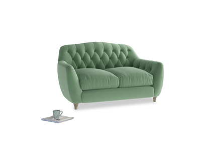 Small Butterbump Sofa in Thyme Green Vintage Linen
