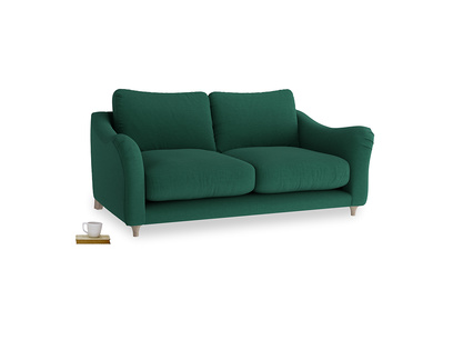 Medium Bumpster Sofa in Cypress Green Vintage Linen
