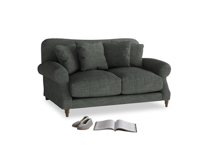 Small Crumpet Sofa in Pencil Grey Clever Laundered Linen