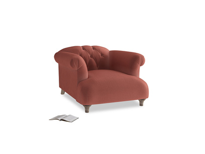 Dixie Armchair in Dusty Cinnamon Clever Velvet