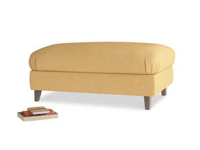 Rectangle Legsie Footstool in Honeycomb Clever Softie