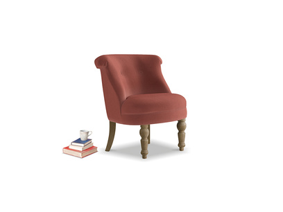 Bovary Armchair in Dusty Cinnamon Clever Velvet