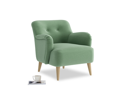 Diggidy Armchair in Thyme Green Vintage Linen