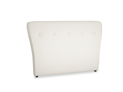 Double Smoke Headboard in Chalky White Clever Softie