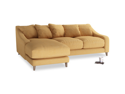 Large left hand Oscar Chaise Sofa in Honeycomb Clever Softie