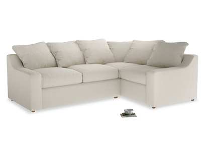 Large Right Hand Cloud Corner Sofa in Chalky White Clever Softie