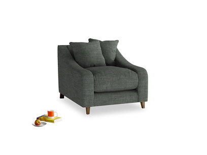 Oscar Armchair in Pencil Grey Clever Laundered Linen