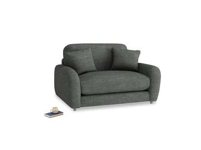 Easy Squeeze Love Seat in Pencil Grey Clever Laundered Linen