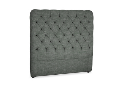 Double Tall Billow Headboard in Pencil Grey Clever Laundered Linen