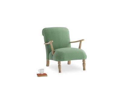 Brew Armchair in Thyme Green Vintage Linen
