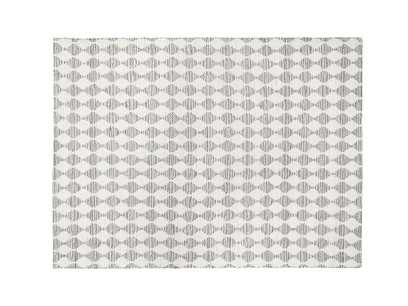 Medium Waves In Grey rug