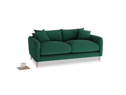 Small Squishmeister Sofa in Cypress Green Vintage Linen