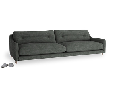 Extra large Slim Jim Sofa in Pencil Grey Clever Laundered Linen