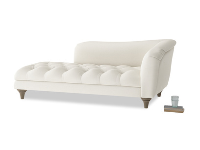 Right Hand Slumber Jack Chaise Longue in Chalky White Clever Softie