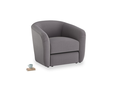 Tootsie Armchair in Graphite grey clever cotton