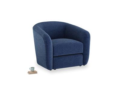 Tootsie Armchair in Ink Blue wool