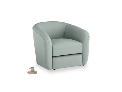Tootsie Armchair in Sea fog Clever Woolly Fabric