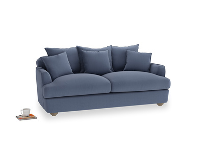 Medium Smooch Sofa in Breton blue clever cotton