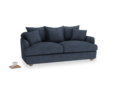 Medium Smooch Sofa in Selvedge Blue Clever Laundered Linen