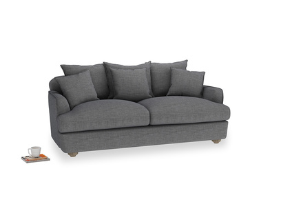 Medium Smooch Sofa in Strong grey clever woolly fabric