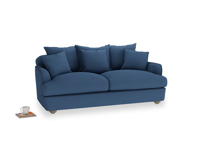 Medium Smooch Sofa in True blue Clever Linen