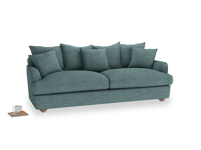 Large Smooch Sofa in Blue Turtle Clever Laundered Linen