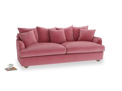 Large Smooch Sofa in Blushed pink vintage velvet