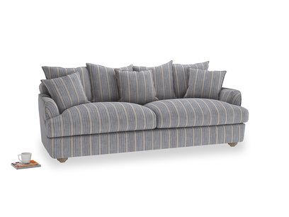 Large Smooch Sofa in Brittany Blue french stripe
