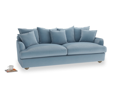 Large Smooch Sofa in Chalky blue vintage velvet