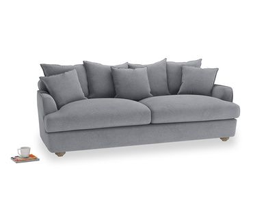 Large Smooch Sofa in Dove grey wool