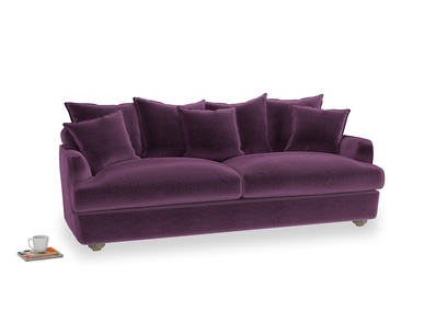 Large Smooch Sofa in Grape clever velvet