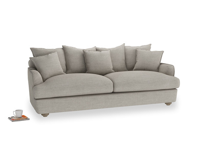 Large Smooch Sofa in Grey Daybreak Clever Laundered Linen