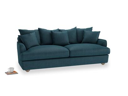 Large Smooch Sofa in Harbour Blue Vintage Linen
