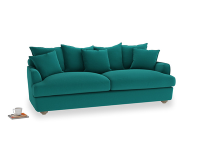 Large Smooch Sofa in Indian green Brushed Cotton