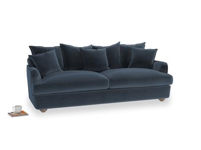Large Smooch Sofa in Liquorice Blue clever velvet