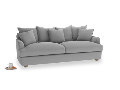 Large Smooch Sofa in Magnesium washed cotton linen