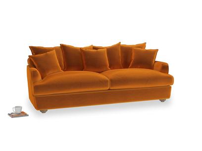 Large Smooch Sofa in Spiced Orange clever velvet