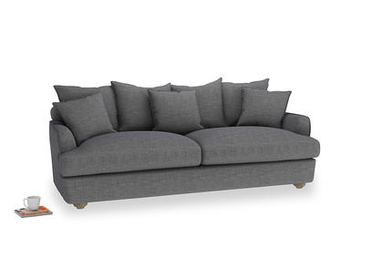 Large Smooch Sofa in Strong grey clever woolly fabric