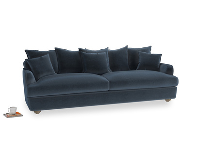 Extra large Smooch Sofa in Liquorice Blue clever velvet